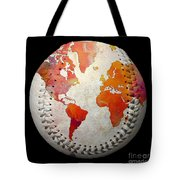 World Map - Rainbow Passion Baseball Square Tote Bag by Andee Design