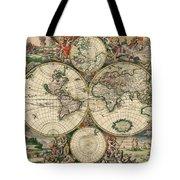 World Map 1689 Tote Bag