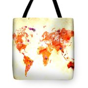 World Map 2d Tote Bag