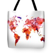 World Map 2f Tote Bag