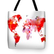World Map 9 Tote Bag
