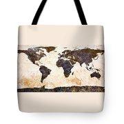 World Map Abstract Tote Bag by Bob Orsillo