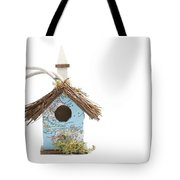 World Map Birdhouse Tote Bag