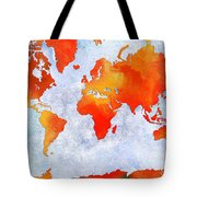 World Map - Citrus Passion - Abstract - Digital Painting 2 Tote Bag