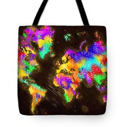 World Map Color Tote Bag
