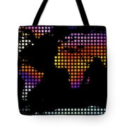 World Map Colourful Dots #2 Tote Bag