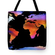 World Map Colourful Dots  Tote Bag