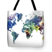World Map Cosmos Tote Bag