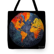 World Map - Elegance Of The Sun Baseball Square Tote Bag by Andee Design