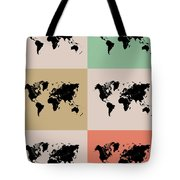 World Map Grid Poster 2 Tote Bag