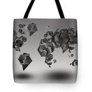 World Map In Geometric Fractal Tote Bag