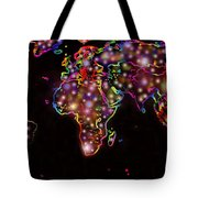 World Map In The Future Tote Bag by Augusta Stylianou