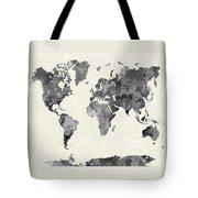World Map In Watercolor Gray Tote Bag