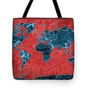 World Map Landmark Collage 11 Tote Bag