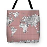 World Map Landmark Collage 2 Tote Bag