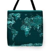 World Map Landmark Collage 4 Tote Bag