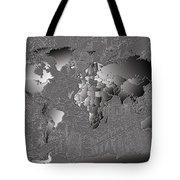 World Map Landmark Collage 6 Tote Bag