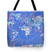 World Map Landmark Collage 8 Tote Bag