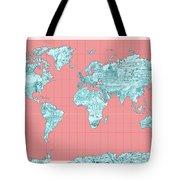 World Map Landmark Collage Tote Bag