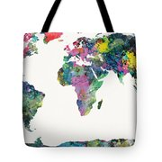 World Map Tote Bag by Mike Maher