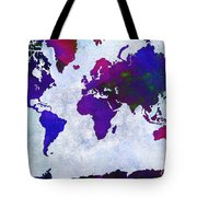 World Map - Purple Flip The Light Of Day - Abstract - Digital Painting 2 Tote Bag