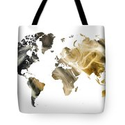 World Map Sandy World Tote Bag