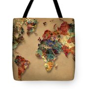 World Map Watercolor Painting 1 Tote Bag