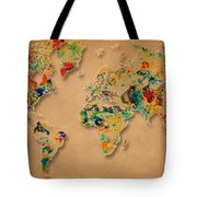World Map Watercolor Painting 2 Tote Bag