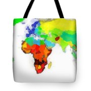 World Map Wathercolor Tote Bag