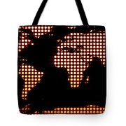 World Map Yellow Dots Tote Bag