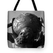 World On His Shoulders Tote Bag