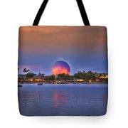 World Showcase Lagoon Sunset Tote Bag
