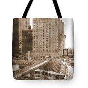 World Trade Center Reconstruction Vintage Tote Bag