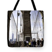 World Trade Center Through The Bridge Tote Bag