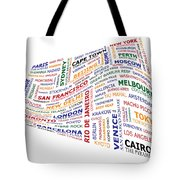 World Travel Wave. Tote Bag