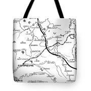 World War I Map, C1916 Tote Bag