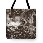 World War I Paris Bombed Tote Bag