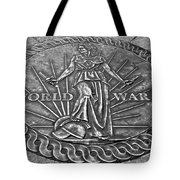 World War II Medallion Bw Tote Bag