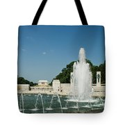 World War II Monument With Lincoln Monument Tote Bag