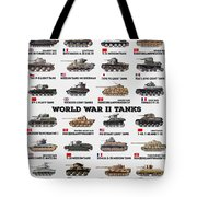 World War II Tanks Tote Bag