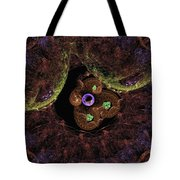 Worlds And Swirles Tote Bag