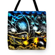 Worlds Collide Tote Bag