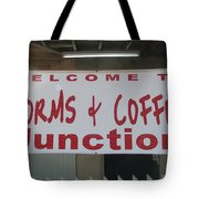 Worms And Coffee Junction Tote Bag