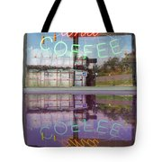 Worms And Coffee Sign Tote Bag