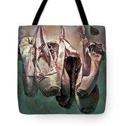 Worn Ballet Slippers Tote Bag