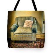Worn Chair By Doorway Tote Bag