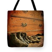 Worn Family Shoes Linded Up Tote Bag