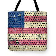 Worn Out American Flag Tote Bag