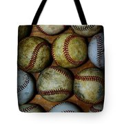 Worn Out Baseballs Tote Bag