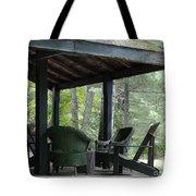Worn Wicker Chairs On Old Veranda Tote Bag